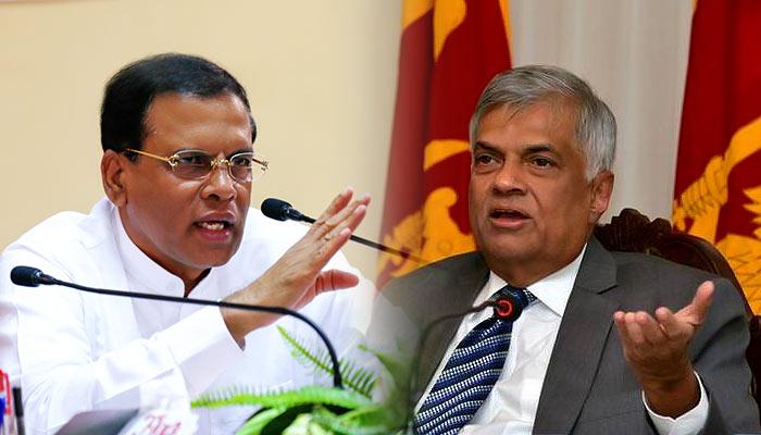 Sri Lanka President Maithripala Sirisena and Prime Minister Ranil Wickremasinghe