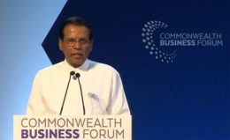 Sri Lanka President Maithripala Sirisena at Commonwealth Business Forum