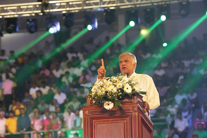 Ranil Wickremasinghe at UNP May day rally