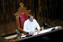 Sri Lanka President Maithripala Sirisena at parliament