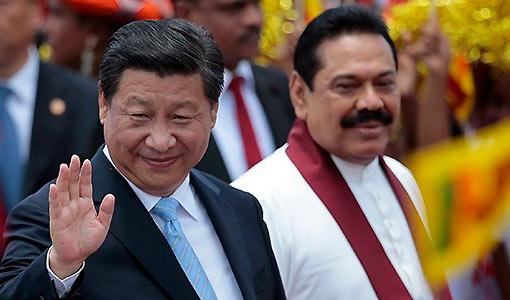 Chinese President Xi Jinping and Former Sri Lanka President Mahinda Rajapaksa