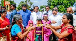 Sri Lanka President Maithripala Sirisena in Kilinochchi
