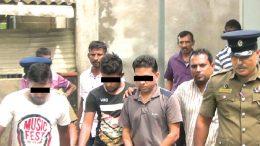 Arrested suspects of Kataragama Kiriwehera shooting