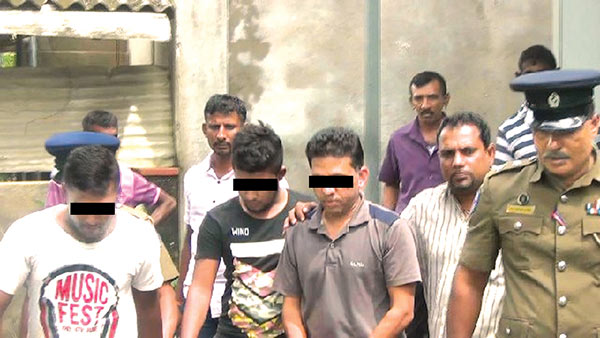 Arrested suspects of Kataragama Kiriwehera shooting