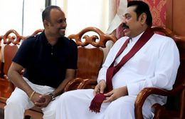 Udayanga Weeratunga with Mahinda Rajapaksa