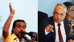 Wimal Weerawansa and Malik Samarawickrema