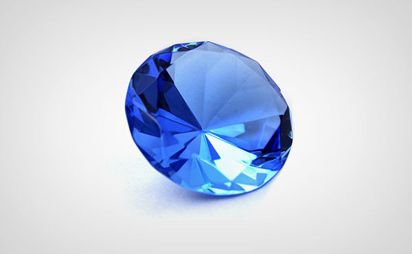 Blue diamond in Sri Lanka