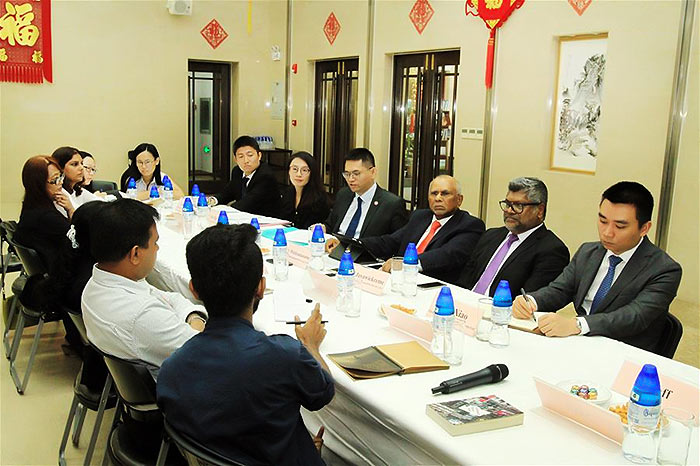 media briefing held at the Chinese Embassy in Colombo, Sri Lanka