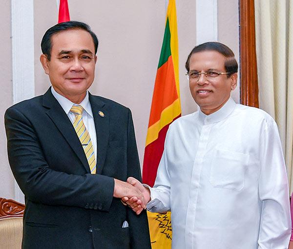 Prime Minister of Thailand General Prayut Chan-o-cha and Sri Lanka President Maithripala Sirisena