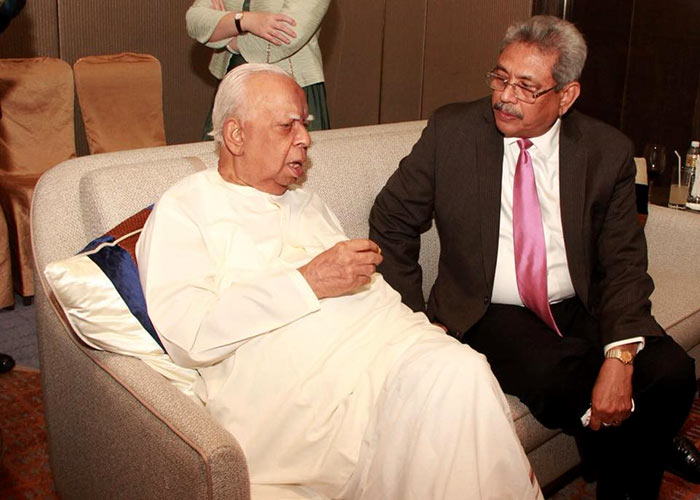 R. Sampanthan with Gotabaya Rajapaksa