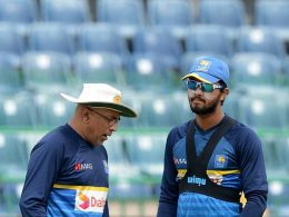 Sri Lanka cricket captain Dinesh Chandimal and coach Chandika Hathurusinghe