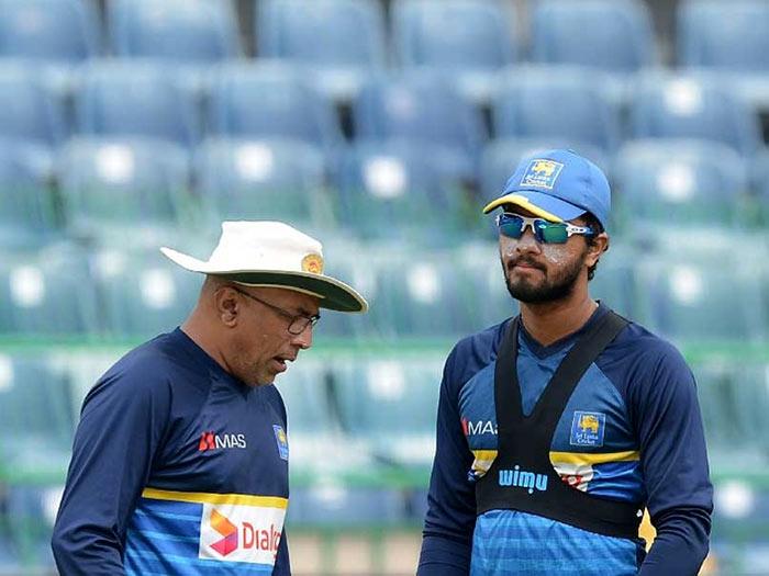 Sri Lanka cricket captain Dinesh Chandimal and coach Chandika Hathurusinghe
