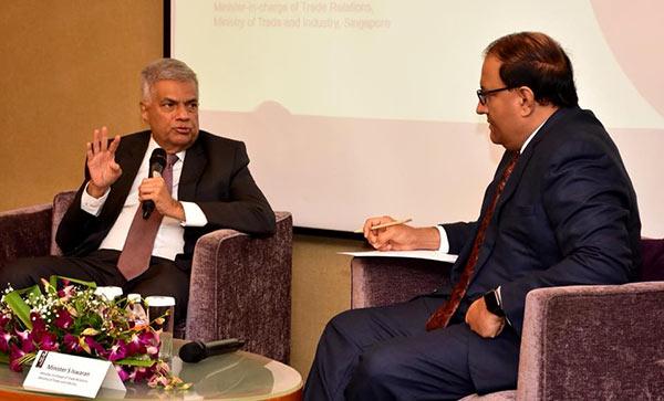 Sri Lanka Prime Minister Ranil Wickramasinghe in Singapore