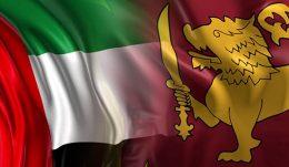 United Arab Emirates flag and Sri Lanka flag