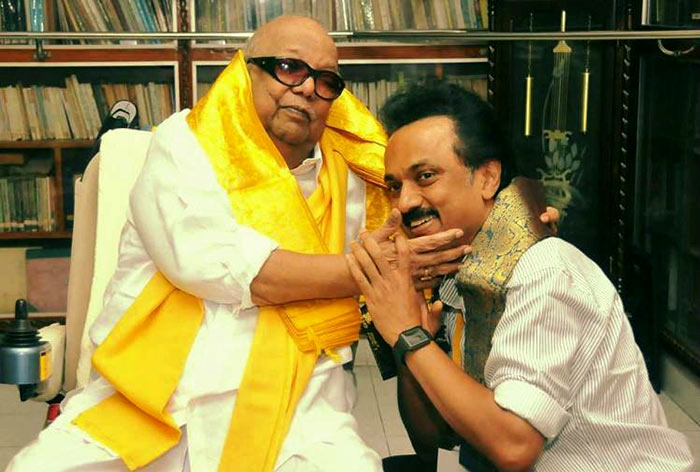 Karunanidhi and MK Stalin