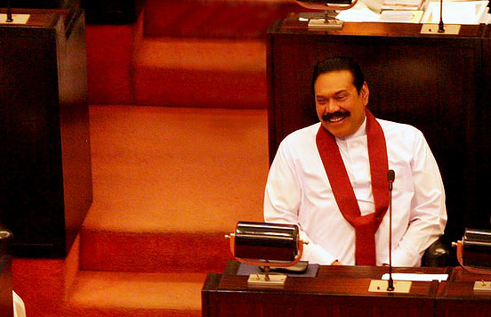 Mahinda Rajapaksa is at parliament