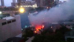 Fire at Park street Colombo Sri Lanka