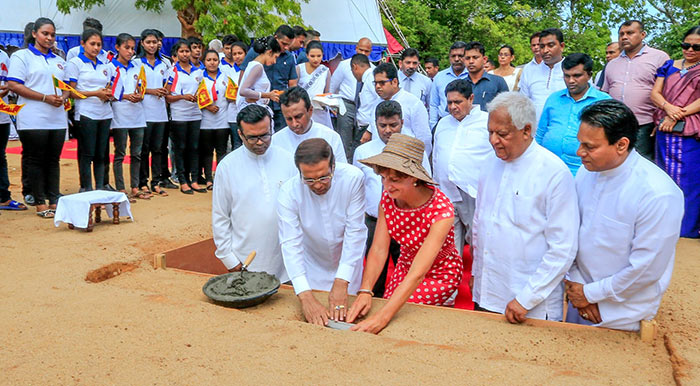 Foundation stone laying ceremony for the Polonnaruwa National Vocational Training Centre of the National Vocational Training Authority