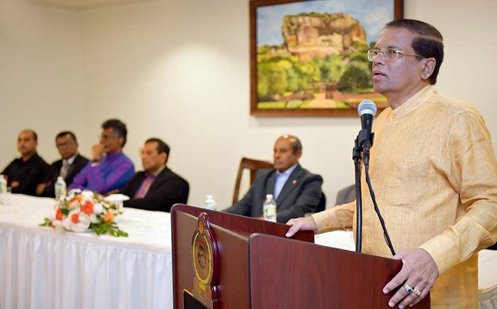 Sri Lanka President Maithripala Sirisena in New York
