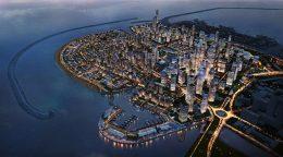 Port city development in Colombo Sri Lanka
