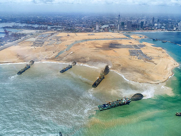 Port city development in Colombo Sri Lanka
