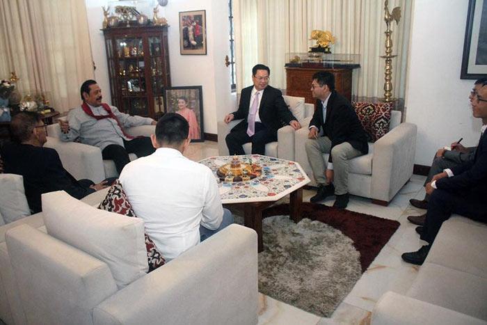 Ambassador of China in Sri Lanka Cheng Xueyuan has met Sri Lanka Prime Minister Mahinda Rajapaksa