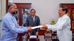 Dunesh Gankanda sworn in as State Minister of Environment