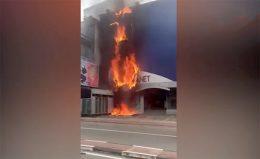 Fire at Cool Planet Pelawatta Sri Lanka