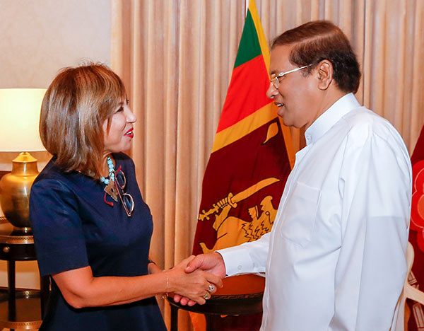 Ms. Hanaa Singer called on Sri Lanka President Maithripala Sirisena