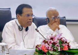 Maithripala Sirisena with R Sampanthan