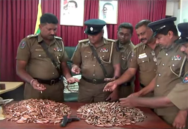 Police arrests four persons with 3,000 T56 bullets