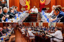 Sri Lanka President Maithripala Sirisena meets foreign envoys