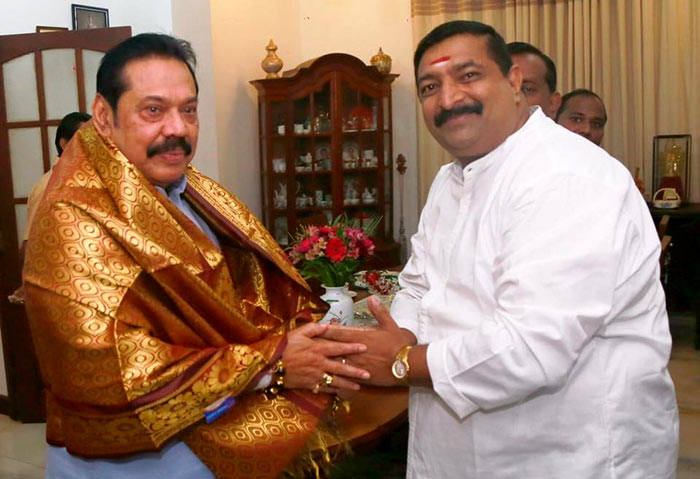 Vadivel Suresh met Mahinda Rajapaksa