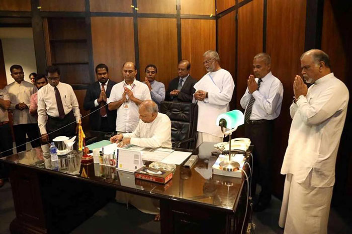 Dinesh Gunawardena as the leader of the house