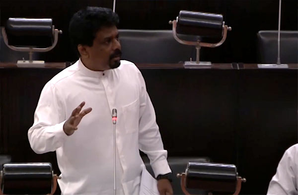 JVP MP Anura Kumara Dissanayake is in Parliament