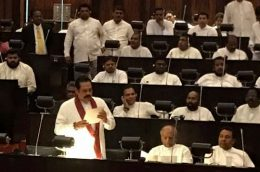 Mahinda Rajapaksa's speech in Parliament of Sri Lanka