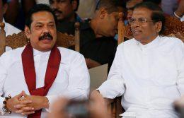 Mahinda Rajapaksa with Maithripala Sirisena