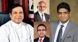 Piyasena Gamage, AHM Fowzie, Wasantha Senanayake and Manusha Nanayakkara