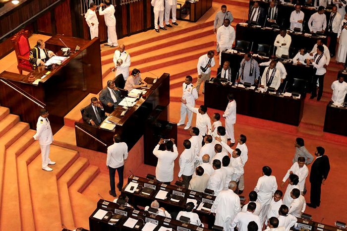 Sri Lanka Parliament on no confidence motion