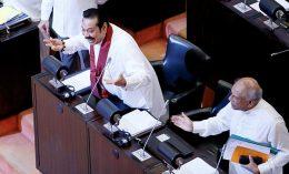Sri Lanka Prime Minister Mahinda Rajapaksa at Parliament