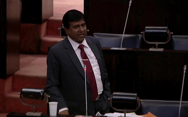 Wijeyadasa Rajapakshe in Parliament of Sri Lanka
