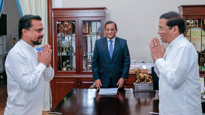 Wimal Weerawansa sworn in as Minister