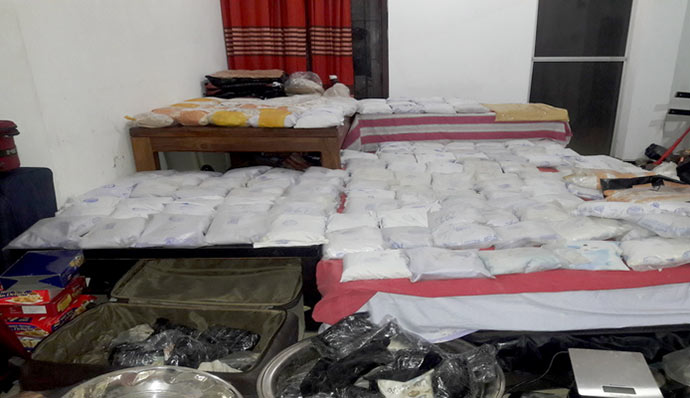 278kgs of heroin & 5kgs of cocaine found in Dehiwala