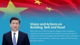 China's belt and silk road by president Xi Jinping