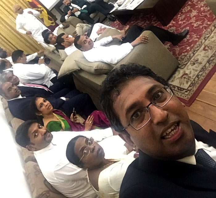 Harsha de Silva and other ministers of Sri Lanka government