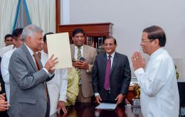 Ranil Wickremesinghe was sworn in as Sri Lanka's Prime Minister