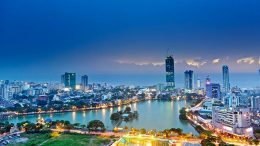 Colombo city in Sri Lanka