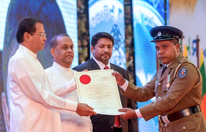Janapathi Prashansa awards ceremony in Sri Lanka