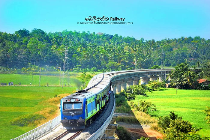 Matara Beliatta railway line commissioned in Sri Lanka