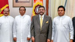 New Governors sworn in before President of Sri Lanka Maithripala Sirisena